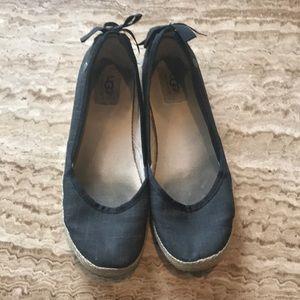 UGG Black Flats